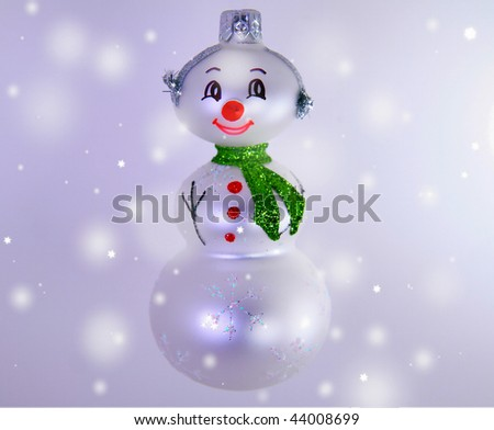 smiling snowman ornament