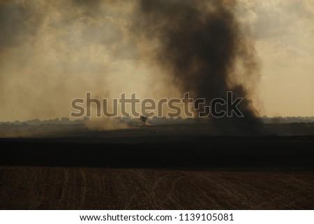 Smoke battles on Gaza strip