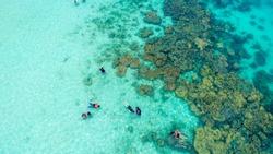 Snorkeling near the Koh Mun Nok island, Rayong Thailand