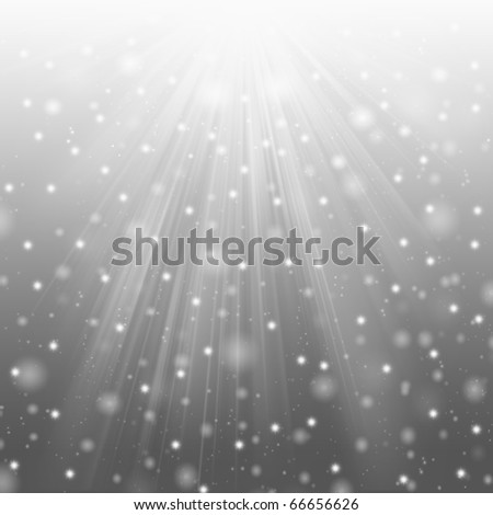 Snow and star on gray background - stock photo