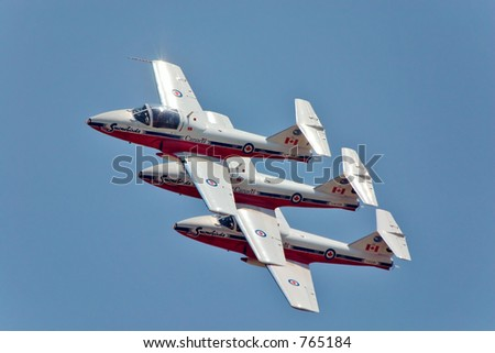 3 匹のsnowbirds - stock photo