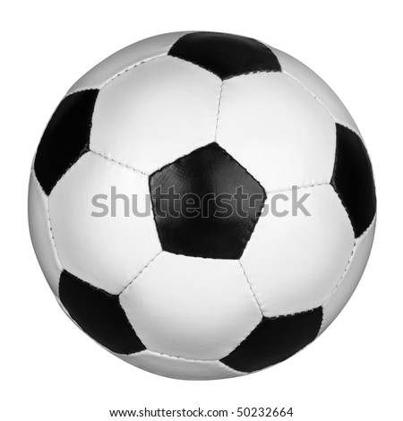 Soccer ball isolated on the white background, clipping path included.
