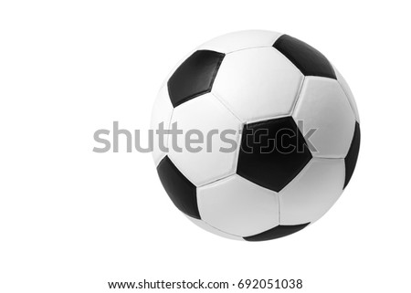 soccer ball on isolated.  #692051038