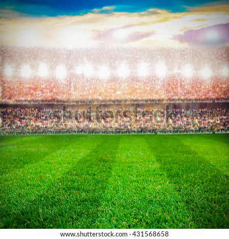 soccer football stadium and the supporters background #431568658