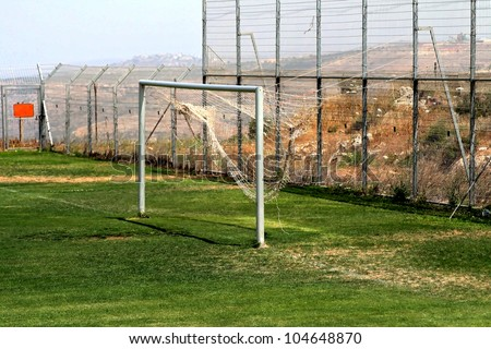 Soccer Goal or Football Goal at time out.