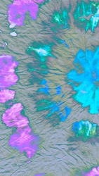 Socialmedia Printed Tie. Tiedye Spiral Paint Background.  Abstract Culture Japan Printed Tie. Watercolour Unicorn Pattern. Soft Printed Tie. Batik Dye Print. Wash Tiedye.