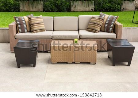 sofa in the garden #153642713