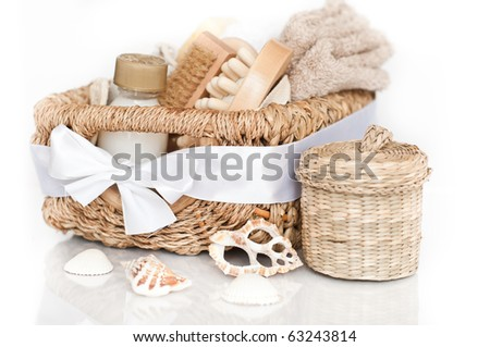 Spa setting with towel