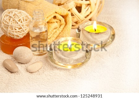 spa still life, low depth of focus