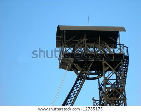 Special mining tower near Czech uranium mines in Pribram