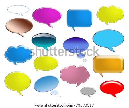 Speech bubbles ready for your text - stock photo