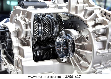 6 speed automatic robotic gearbox. internals, gears and friction clutches #1325616371