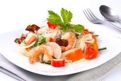 Spicy noodle salad, Thai Food