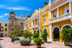 square in the city of Cartagena de Indias, Colombia