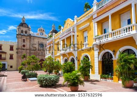 square in the city of Cartagena de Indias, Colombia Stock fotó ©