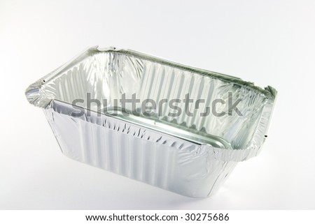 1 square opened catering tray