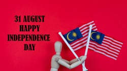 31st August is a Malaysia Independence Day. Independence Day concept in celebrating Malaysia Independence Day. Selective focus on Malaysia flag.