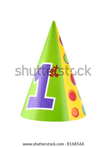 birthday party hat. 1st irthday party hat