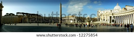 St Peter's Square - Panoramic View, Rome (Vatican City).