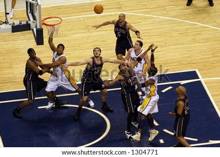 1st round of NBA playoffs game – season 2006. - stock photo
