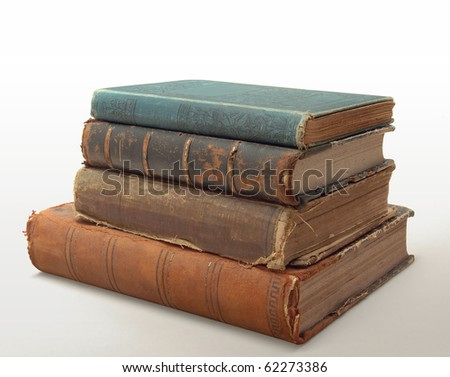 10 Stack of old books circa 1900