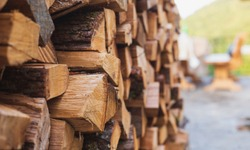Stacks of Firewood. Preparation of firewood for the winter.Pile of Firewood.Firewood background