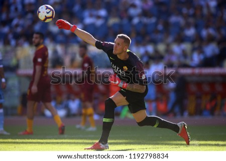 29/09/2018 Stadio Olimpico, Rome, Italy. SERIE A: ROBIN OLSEN in action during the ITALIAN SERIE A match between A.S. ROMA V S.S. LAZIO at Stadio Olimpico in Rome.