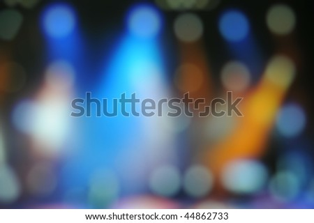 Stage abstract fuzzy facula