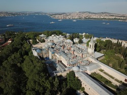 İstanbul Topkapi Palace Drone Above Aerial