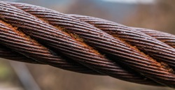 steel  cable  close-up