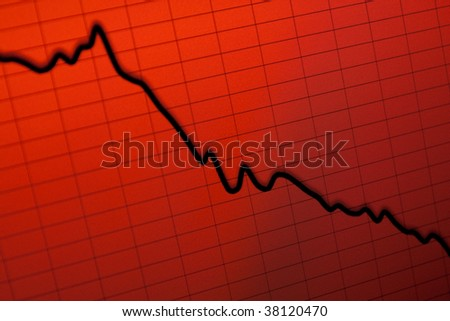 stock crash recession- computer screen