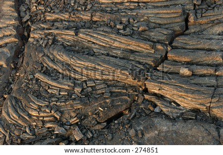 """STOCK - High angle view of volcanic rock, Volcano National Park, Big Island of Hawaii, February 2004 (Keith Levit)"""