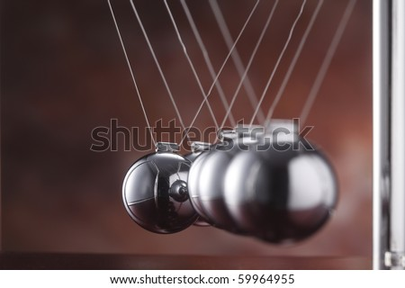 stock image of simple pendulum unaglined-network failure