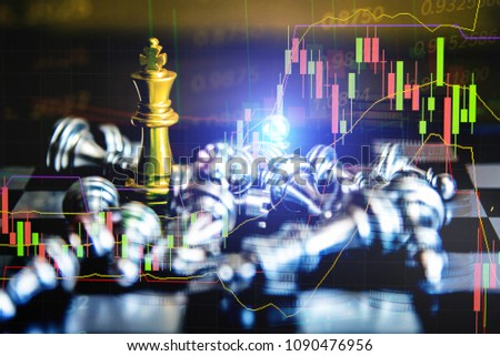 Stock market data on digital LED display. A number of daily market price and quotation of prices chart and candle stick tracking in Forex trading.