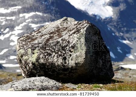Stone in norwegian mountain.