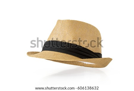Straw hat isolated on white background #606138632