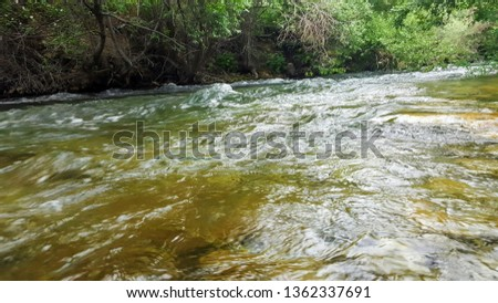 stream, stream flowing water, close-up