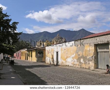 street in  Antigua  Guatemala