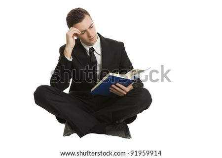 stressed businessman in studying