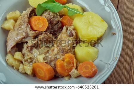 Stuffat tal-Fenek - national dish of Malta Stock fotó ©