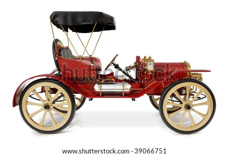 1910 style antique car