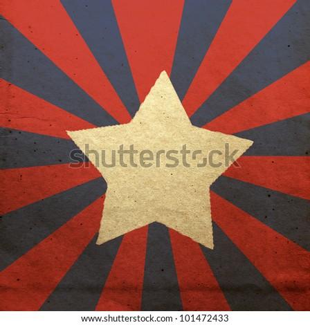 stylized American flag - stock photo