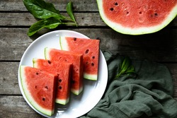 Summer! Sweet and juicy watermelon. Food photo appetizing photo of watermelon. red tasty, juicy watermelon
