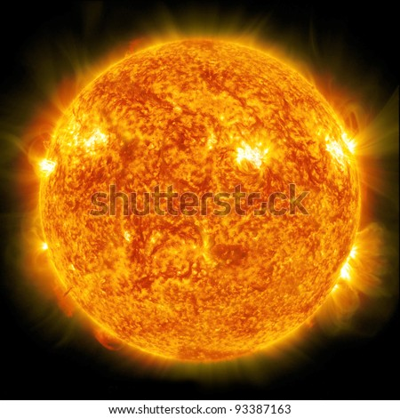 Sun. Global warming (Collage from images www.nasa.gov) - Shutterstock ID 93387163