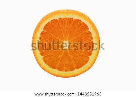 Sun Kwik  Orange on white background Stockfoto ©
