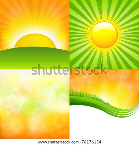 4 Sunburst And Abstract Backgrounds