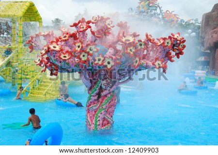 """Suoi Tien"" waterpark in Vietnam, Saigon"