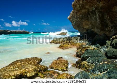 \'Surf at Boca Prins\' on the Island of Aruba in Arikok National Park.