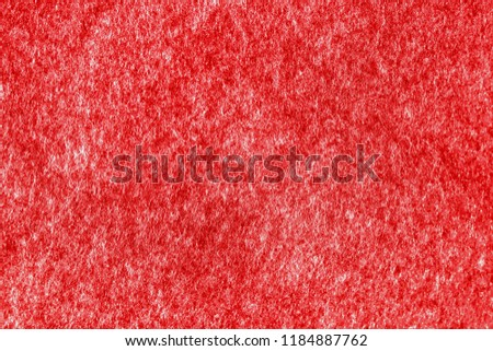 Surface of red color felt fabric textile background for holiday season,Christmas and New Year festive in winter time. #1184887762