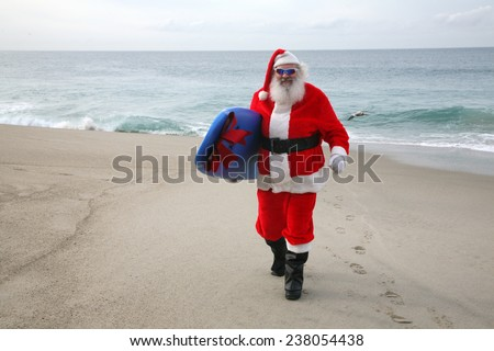 Surfing Santa Claus, Saint Nicholas,  Father Christmas, Kris Kringle, Santa, Sinterklaas, Saint Nicholas,  Father Christmas,  ?axta Baba aka Froze Dad, Christkind aka Christ child,  P�¨re No�«l,